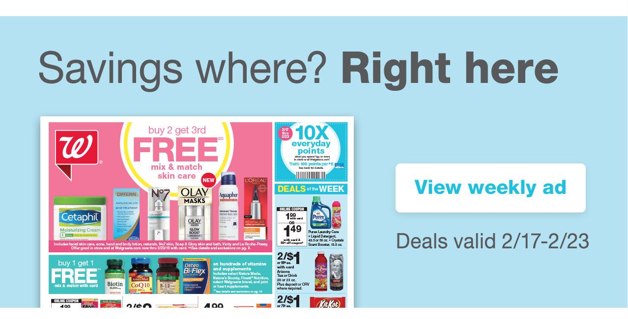 Savings where? Right here. View weekly ad