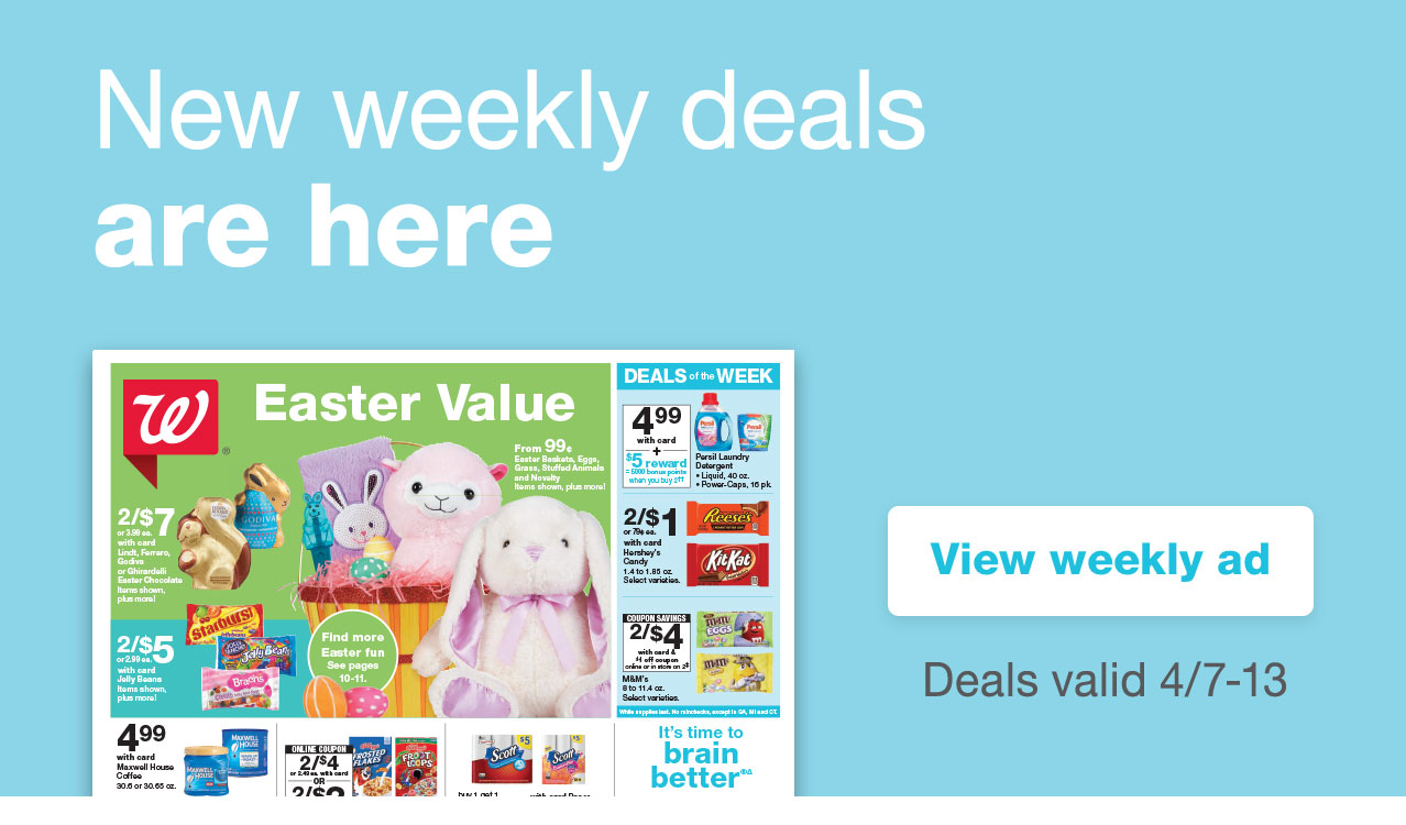 New weekly deals are here. View weekly ad