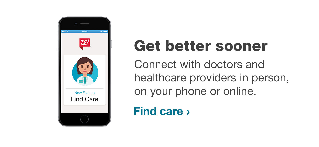 Get better sooner. Connect with doctors and helthcare providers in person, on your phone or online. Find care