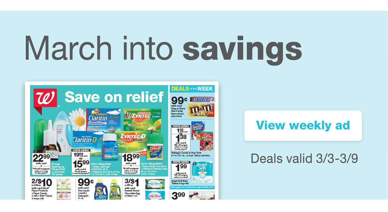 March into savings. View weekly ad