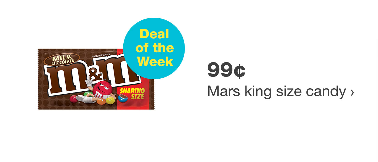 99¢ Mars king size candy