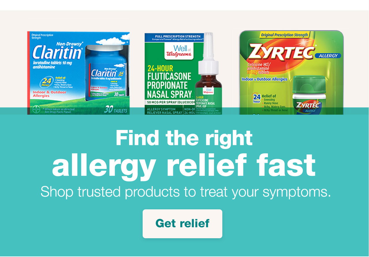 Find the right allergy relief fast. Shop trusted products to treat your symptoms. Get relief