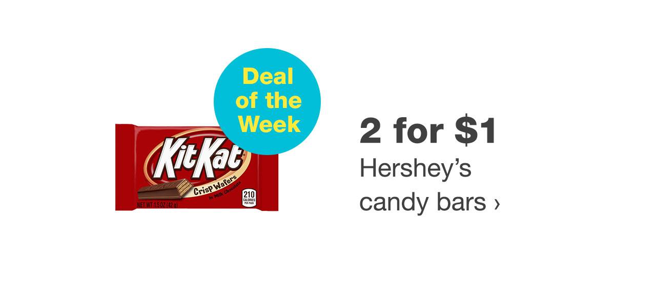 2 for $1 Hershey's candy bars