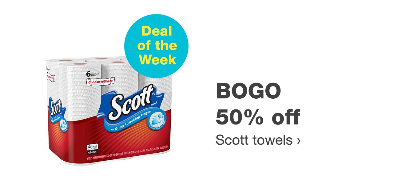BOGO 50% off Scott towels