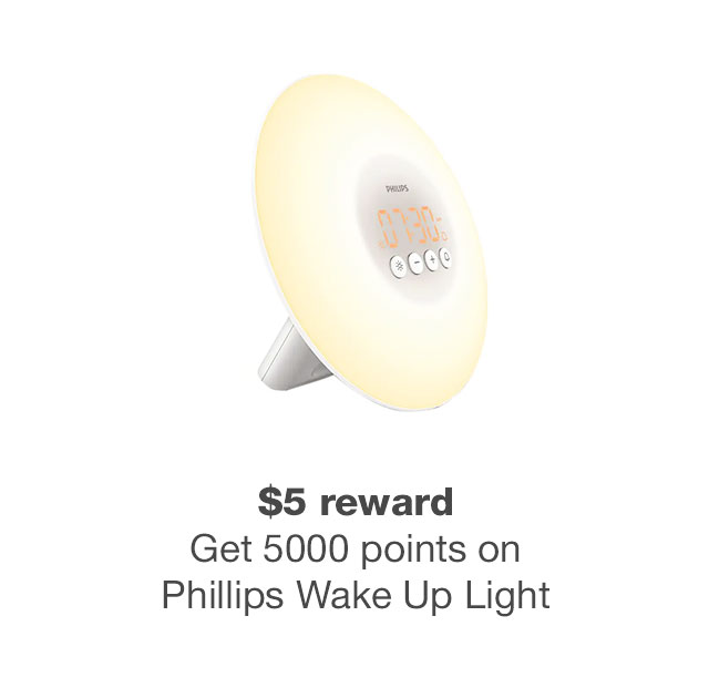 5000 bonus points Phillips Wake Up light
