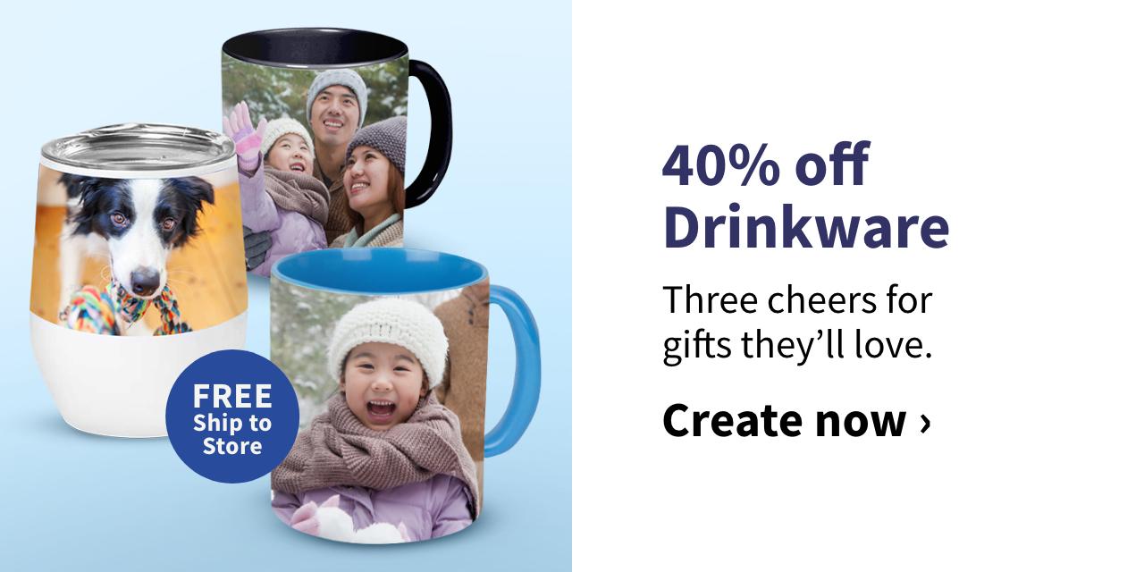 40% off Drinkware
