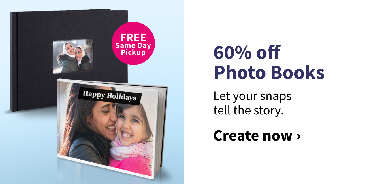 60% off Photo Books